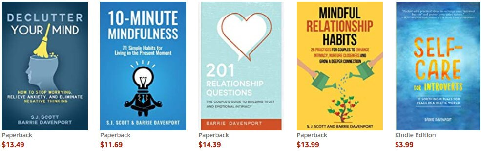 screenshot of books on Amazon writing a book