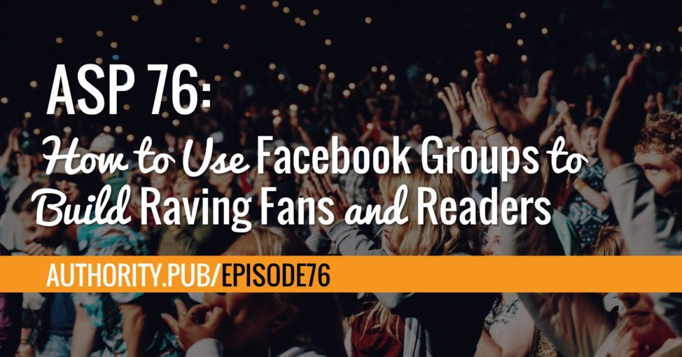 Learn how start and grow an engaged Facebook group with Steve and Barrie as they discuss the different ways a Facebook group can help self-published authors.