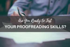 man writing, proofreading test