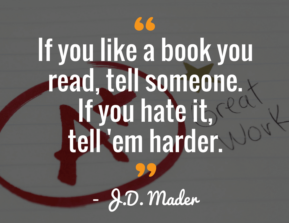 quote jd mader book marketing