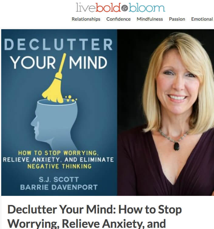 screenshot declutter your mind book marketing
