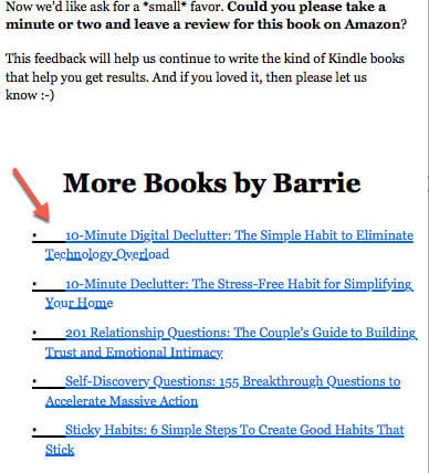 screenshot of book interior book marketing