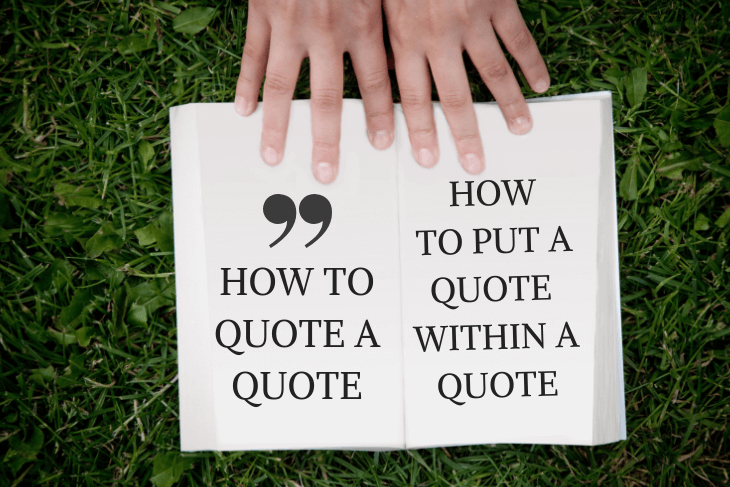 open book, how to quote a quote