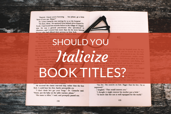 do you italicize book titles