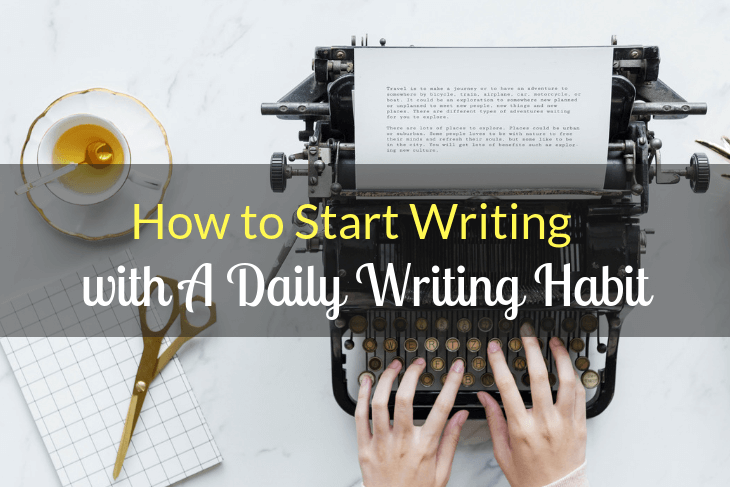 typing, daily writing habit