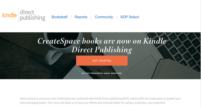 screenshot of website what happened to Createspace