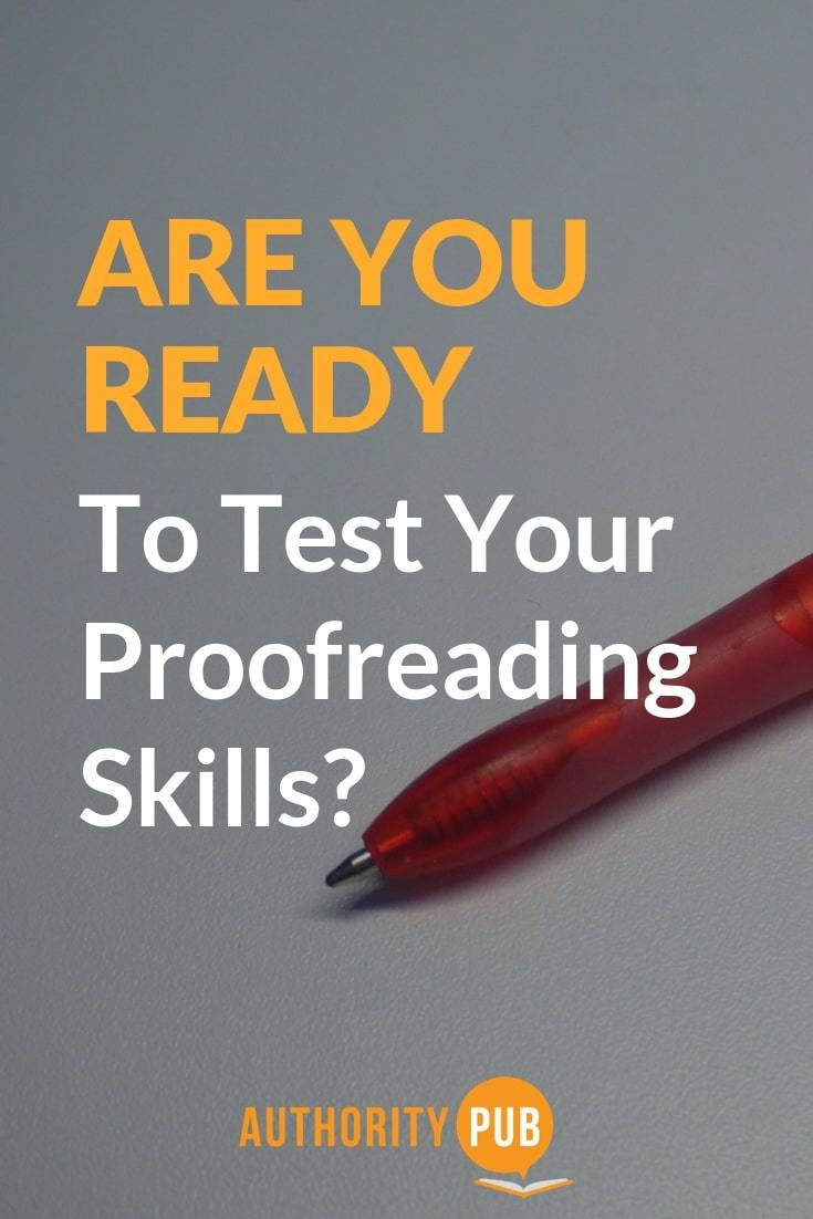 Improve your proofreading skills with this proofreading test | proofreading exercises | proofreading skills test #author #writingtips #selfpublishing