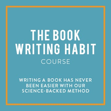 Book writing habit course banner