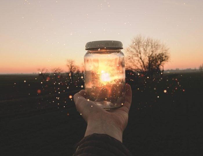 hand and jar, writing inspiration