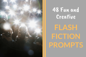 cameras flashing, flash fiction prompts