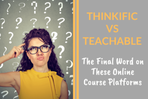 woman thinking, Thinkific vs Teachable