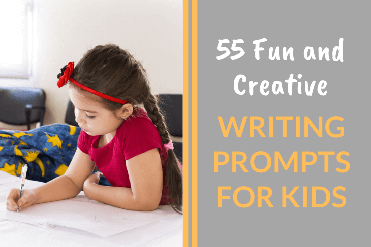 child writing, writing prompts for kids