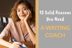 woman writing, writing coach
