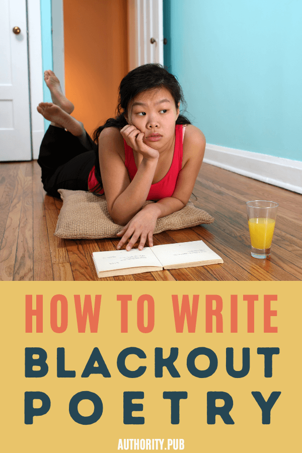 "What on earth is blackout poetry? And how can it stoke the creative fire within you? And what if you're not really ""the poetic type""? Good news! Even if you've never met a poetry assignment that didn't fill you with dread, you're about to learn something that will change the way you think of poetry. #poetry #writingtips #writer"