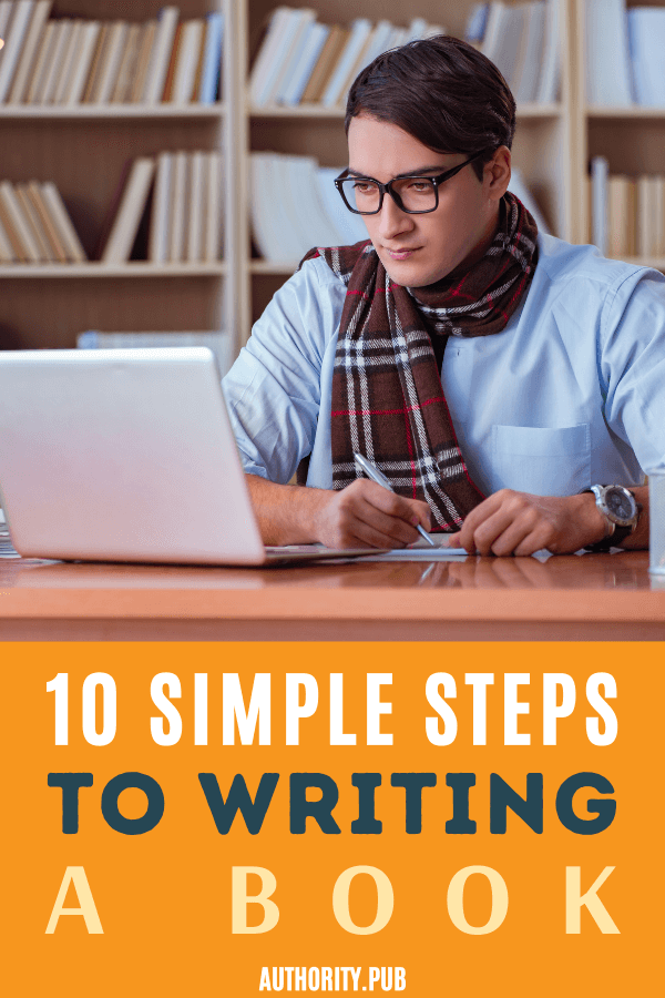 Here are 10 simple steps to writing a book. This guide will walk through how to write a book. We've sold over one million copies of our books using these exact tips.