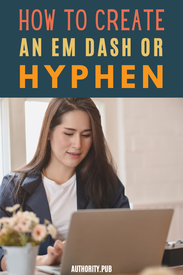 Do you know the difference between an em dash, an en dash, and a hyphen?And when you're in the middle of writing your latest masterpiece, do you know how to type an em dash when it's just the thing to make a phrase stand out more? #writer #writingtips #writing