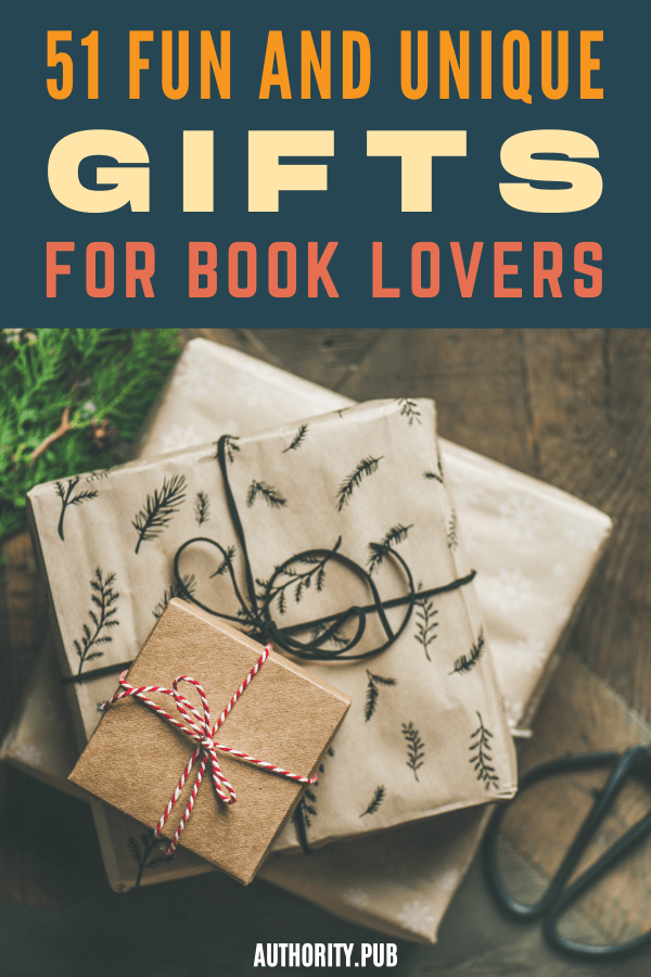 """Looking for some great book lover gifts? It doesn't take much internet searching to find a wide variety of gift ideas, but we've curated this list of our favorites to help you narrow the search a bit. I say """"a bit,"""" because this list is 51 items long. We tried to keep it shorter, but we kept finding gifts that made the readers in us feel a definite pull. #books #giftideas #book"""